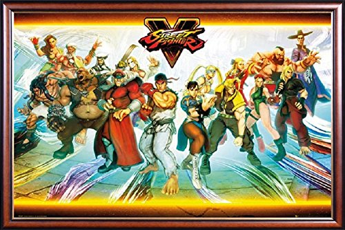 FRAMED Street Fighter V Video Game 24x36 Poster Dry Mounted
