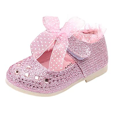 competitive price 0b4d2 ad710 LuckyGirls Kind Schuhe mädchen tanzen Schuhe Baby Prinzessin Schuhe Kind  Spitze Diamanten Leder Baby Shoes