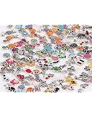 100 قطعة من السحر الطافي من ميراكليكوو، مجموعة متنوعة من الأشكال التي يمكنك تصميمها بنفسك لتضعها في المناقل الطفو، والثقوب الزجاجية التي تتشكل حسب الذاكرة، نمط عشوائي