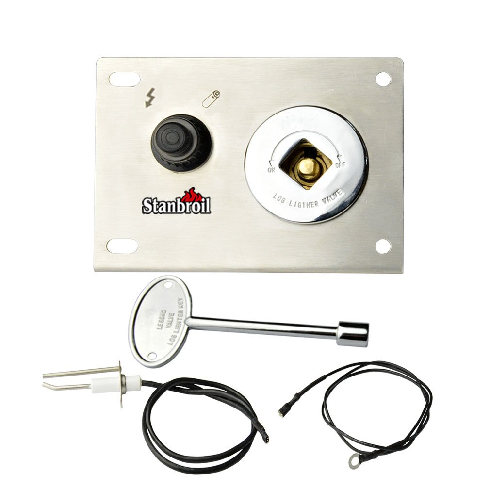 Stanbroil Fire Pit Gas Burner Spark Ignition Kit - Including Push Button Igniter Gas Shut-Off Valve with Key by Stanbroil