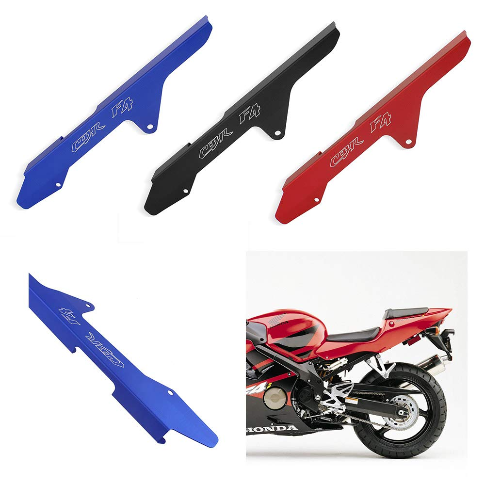 FATExpress Motorcycle Aftermarket Aluminum CNC Chain Rear Sprocket Guard Cover Protector for Honda CBR600 F4 F4i 1999 2000 2001 2002 2003 2004 2005 2006 (Red)