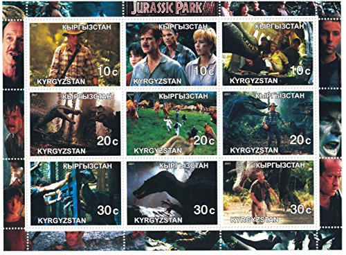 Stamps for collectors - Movie perforfated stamp sheet featuring Jurassic Park III / Sam Neill / William H. Macy / Téa - Park Macys