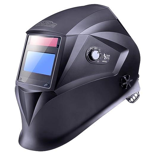 Careta Soldar Automatica, Tacklife PAH04D Casco de Soldadura 1/1/1/1 de Oscurecimiento Máscara de Soldadores Caretas para Soldar con 6 Lentes de ...