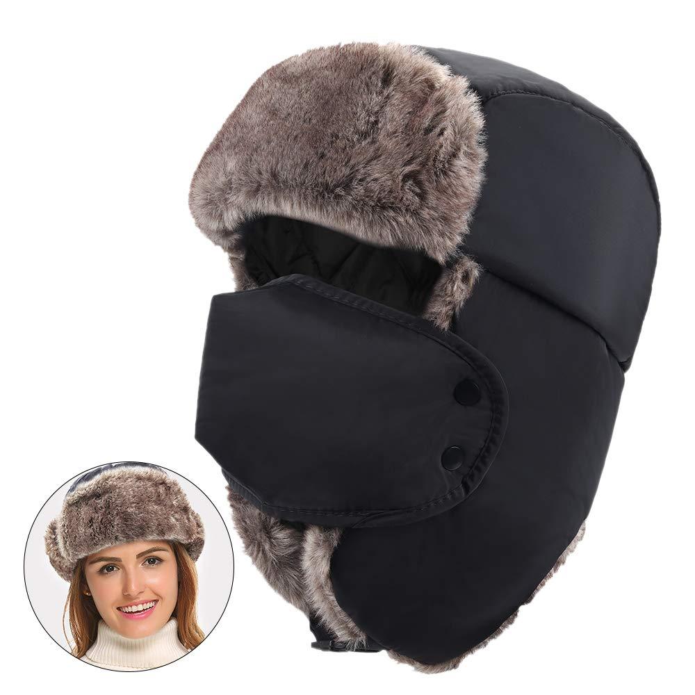 MEETYOO Cappello Aviatore Uomo, Cappelli Donna Invernali Berretto Running Trapper Earflap Hat per Sciare Escursionismo