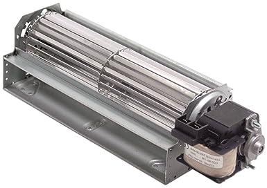 COPREL FFR Querstroml/üfter Anschluss Flachstecker 6,3mm universal 20mm Lager Silikon 25W rechts 230V//50-60Hz Walze 60x180mm