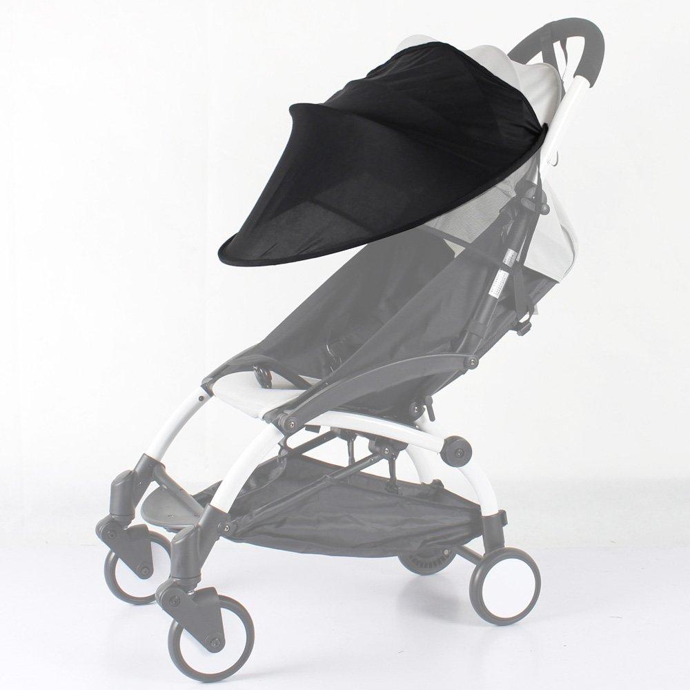 Universal Strollers Sunshade Canopy Compatible for BabyZen YOYO YOYO+ Stroller (Black) ROMIRUS YY15-ca