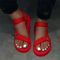 Kadın Sandalet Yaz Plaj Düz Sandalet Flip Flop Ayakkabı Burnu Açık Sandalet Bayanlar Ayak Bileği Kayışı Açık, 02.37