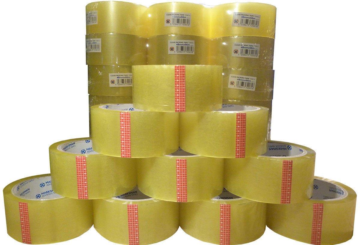 Confezione da 36 pezzi di nastro adesivodi qualità, di marca, forte, trasparente, nastro da 48mm di larghezza x 66m di lunghezza Efoam