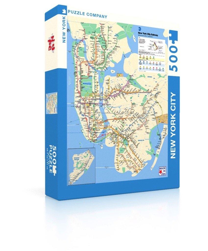 New York City Subway Map May 2000.New York Puzzle Company New York City Transit Mta Subway Map 500 Piece Jigsaw Puzzle