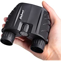 SkyGenius 10x25 Compact Binoculars for Bird Watching, High Powered Binoculars Pocket Size for Theater, Concerts, Travel, BAK4 Roof Prism FMC Lens Binoculars for Adults Kids (0.53lb)