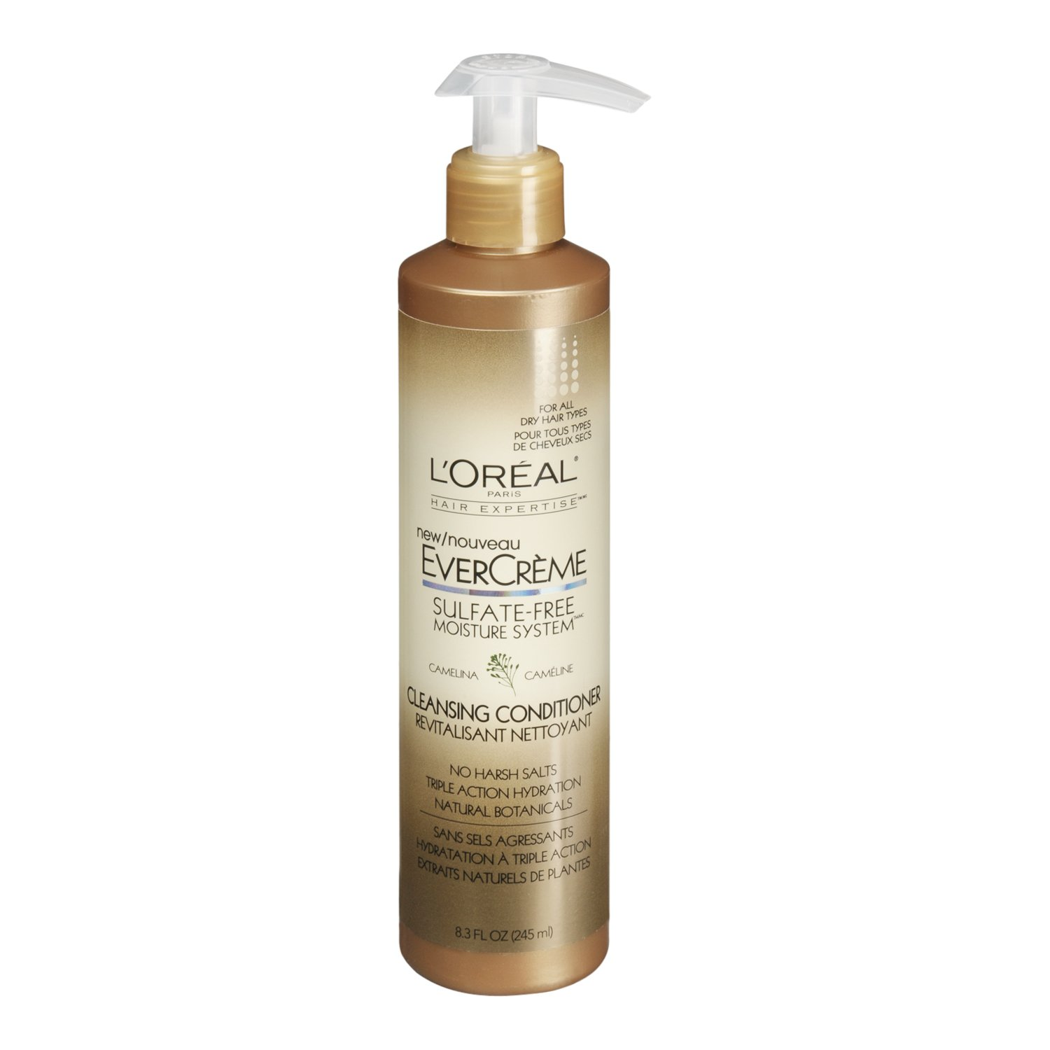 L'Oreal Paris EverCreme Sulfate-Free Moisture System Cleansing Conditioner, Camelina, 8.3 fl. Oz. by L'Oreal Paris