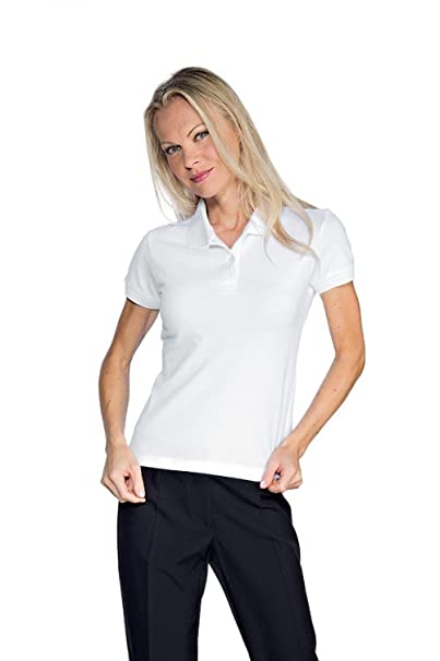 2aaa8da08391e6 Polo Donna Stretch S Bianco: Amazon.it: Abbigliamento