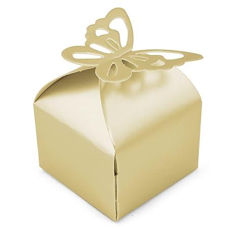 Trixes 50 Pcs Wedding Favour Boxes Bridal Showers Parties Gifts