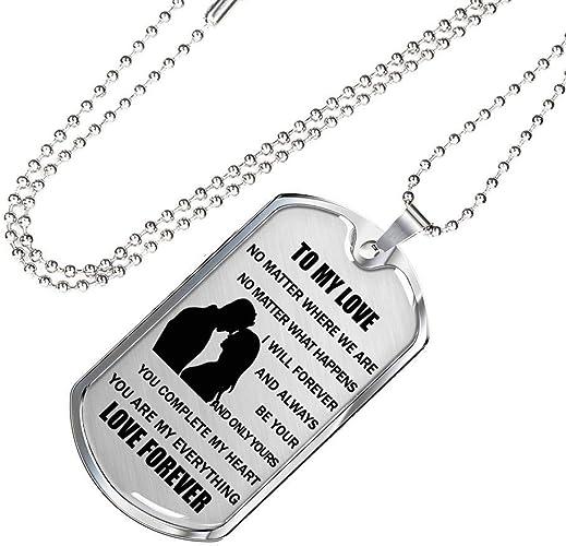 Husband Dog Tag Necklace Gift Idear Custom From Girlfriend Wife To My Boyfriend