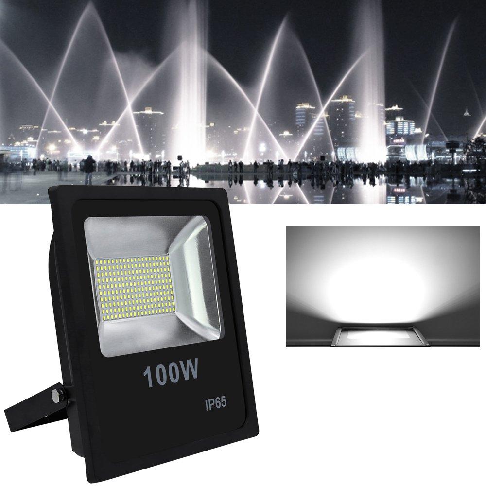 VINGO/® 2x 30W LED Fluter Warmwei/ß Flutlicht Au/ßen Strahler 2400lm Wasserdicht Scheinwerfer Objektbeleuchtung 3000-3200K IP65