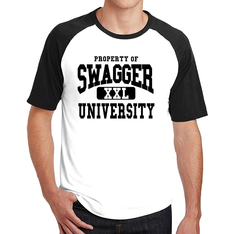 SWAGGER UNIVERSITY Comfortable Soft Cotton Man Raglan T-shirts