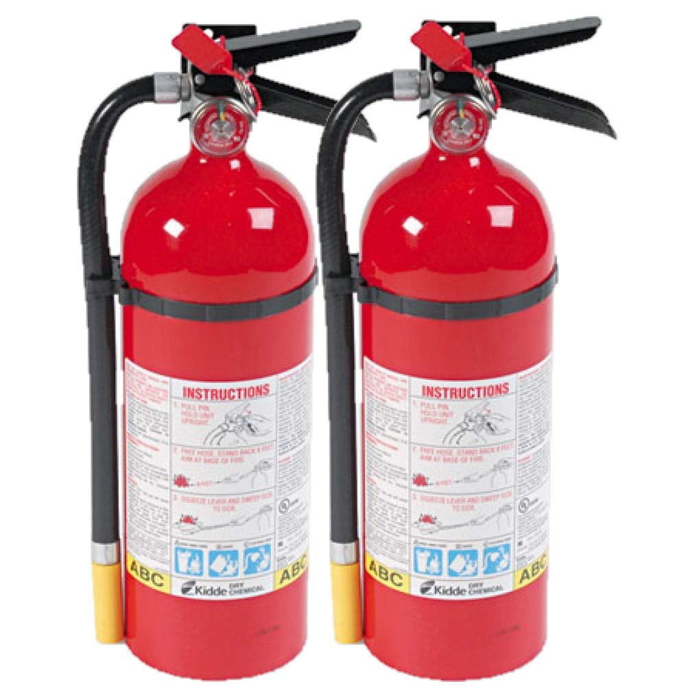 Kidde 466112 ABC Pro Multi-Purpose Dry Chemical Fire Extinguisher, UL rated 3-A, 40-B C, Easy to Read Gauge, Easy to Pull Safety Pin 2-Fire Extinguishers