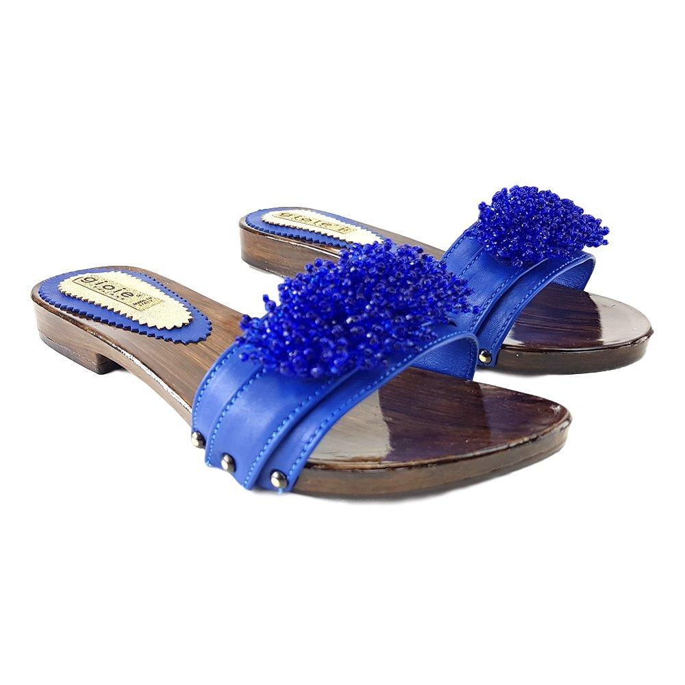 kiara shoes Zueco De Baja Azul-12536 ble 37 EU