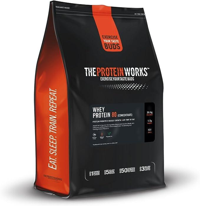 Whey Protein 80   82% De Proteína   Batido Alto En Proteínas & Bajo En Azúcares   THE PROTEIN WORKS   Chocolate Suave   2kg