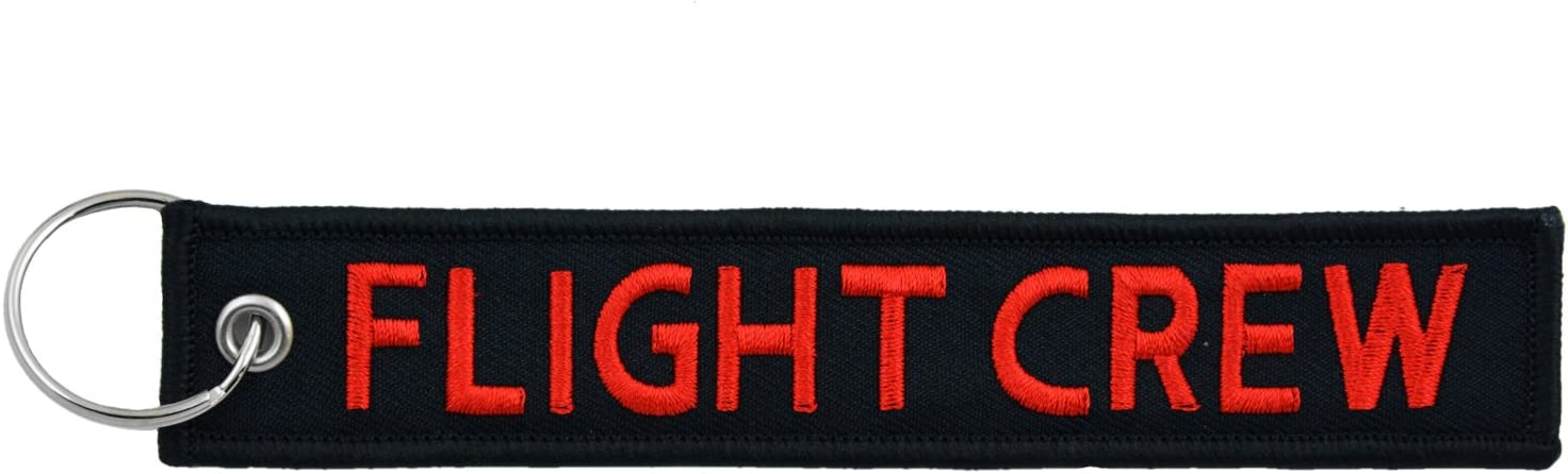 Apex Imports Flight Crew Aviation Airplane Black//Red Key Chain 5.5 x 1 Motorcycle ATV Car Truck Keychain