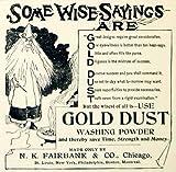 1893 Ad Gold Dust Washing Powder NK Fairbank Wise