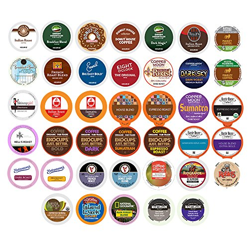 Coffee Variety Sampler Pack for Keurig K-Cup Brewers, 40 Count, (12.69 oz ) (K Bulk Coffee Cup)