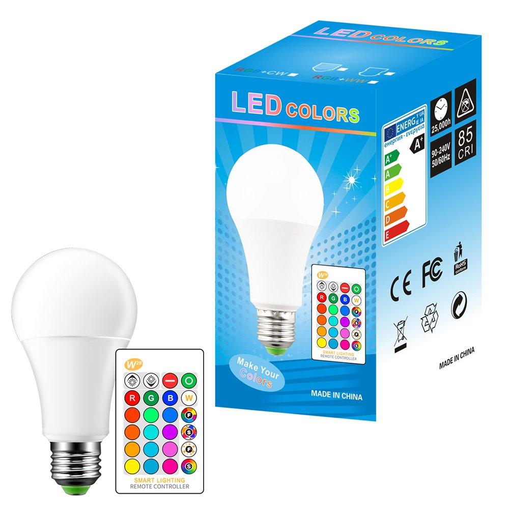 FORNORM LED Bulb E27 Color 15W RGBW Changing Atmosphere Lighting LED Lamp Flash Strobe Mode Bar Decorative Lights (Warm White, 4 Pcs) - - Amazon.com