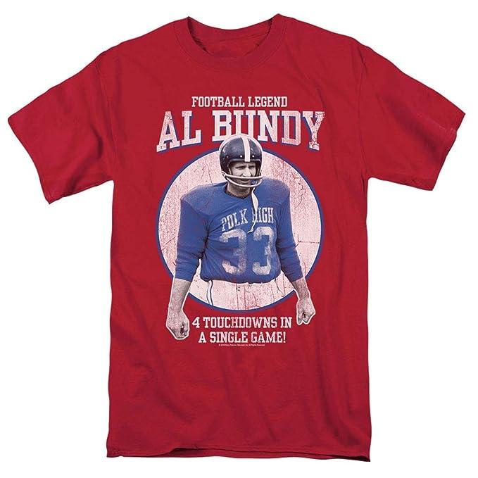online retailer 5566f ee087 Popfunk Married with Children Al Bundy Football Legend T Shirt   Exclusive  Stickers (Small)