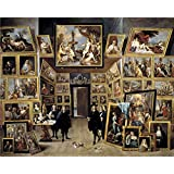 Oil painting 'Teniers David Archduke Leopoldo Guillermo at his picture gallery in Brussels Ca. 1647 ' printing on polyster Canvas , 8 x 10 inch / 20 x 25 cm ,the best Living Room gallery art and Home decor and Gifts is this Replica Art DecorativePrints on Canvas