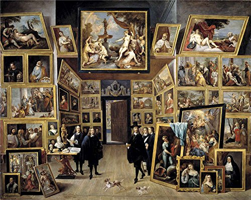 [The Polyster Canvas Of Oil Painting 'Teniers David Archduke Leopoldo Guillermo At His Picture Gallery In Brussels Ca. 1647 ' ,size: 24 X 30 Inch / 61 X 76 Cm ,this Cheap But High Quality Art Decorative Art Decorative Canvas Prints Is Fit For Basement Gallery Art And Home Decor And] (Cobra Kai Costume Large)