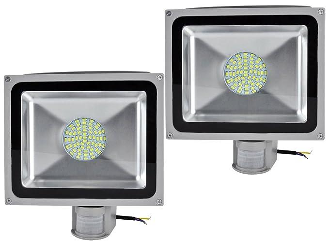 Leetop 2X 50W Blanco Frío LED Foco Proyector Luz, Foco Proyector ...