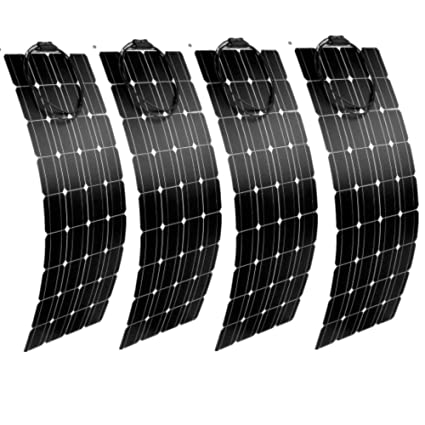 Solar panel flexible 50 W Backcontact 12 V Semi flex flexibel Monokristallin