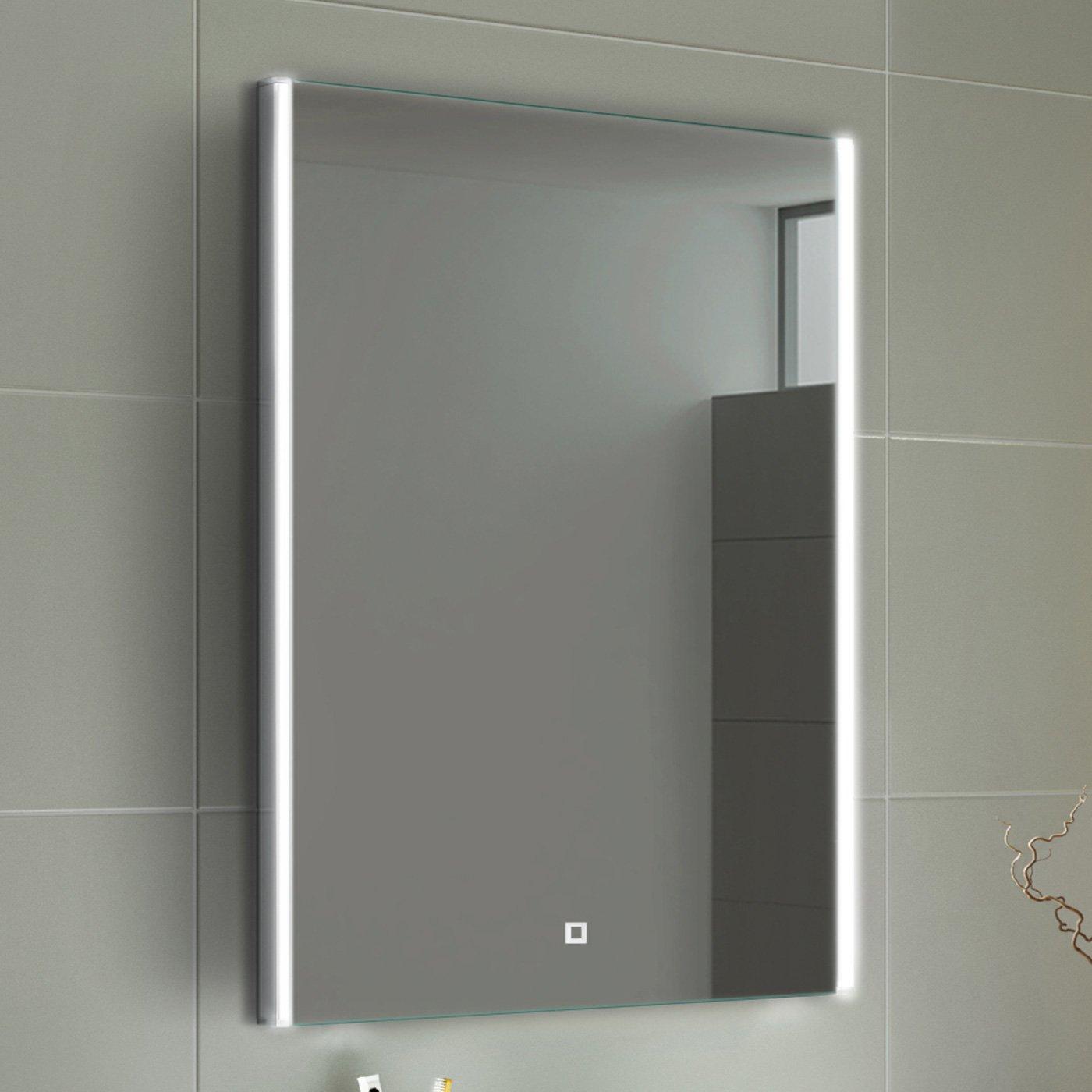 soak Specchio per Bagno con Illuminazione a LED e Sensore Tattile Luce 700 x 500 mm Design Moderno