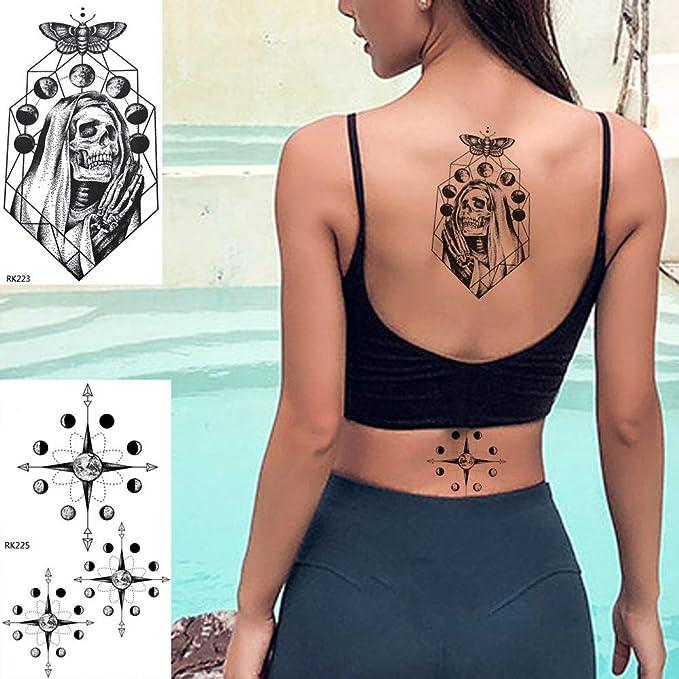 Tatuajes Temporales Niños Death Skull Church Etiqueta Engomada Del ...