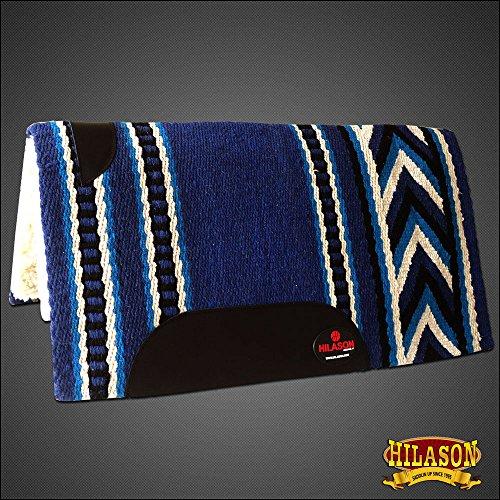 HILASON Made in USA Western Wool Gel Saddle Blanket PAD Blue Turquoise