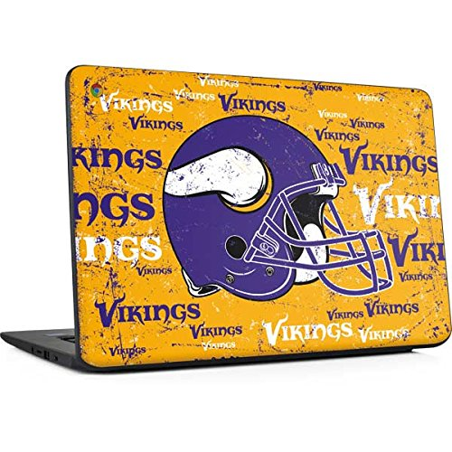 Skinit Minnesota Vikings - Blast Chromebook 14 G5 Skin - Officially Licensed NFL Laptop Decal - Ultra Thin, Lightweight Vinyl Decal Protection