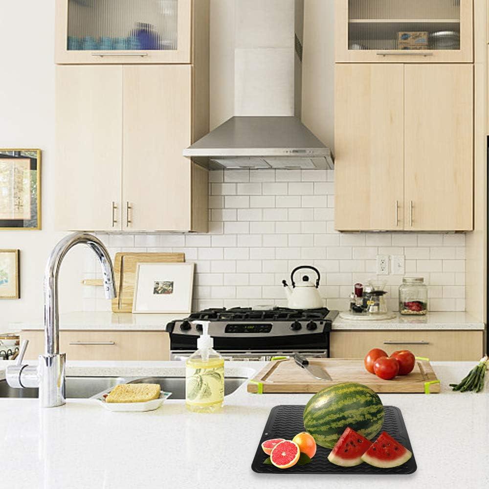HomeMall Fregadero de vajilla de silicona para el almacenamiento de cubiertos y platos 40 * 30 negro: Amazon.es: Hogar