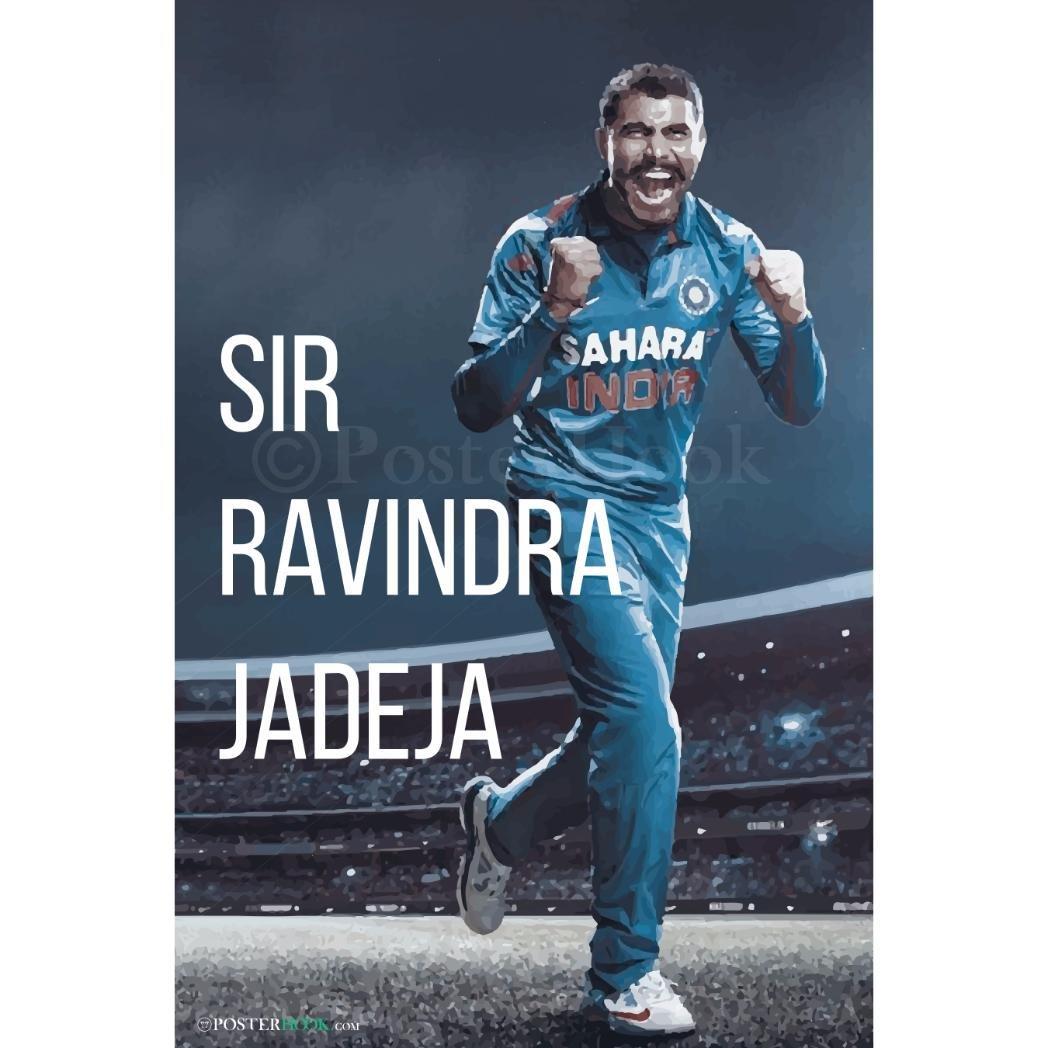 PosterHook Sir Ravindra Jadeja Poster Wall Decor | Special Paper ...
