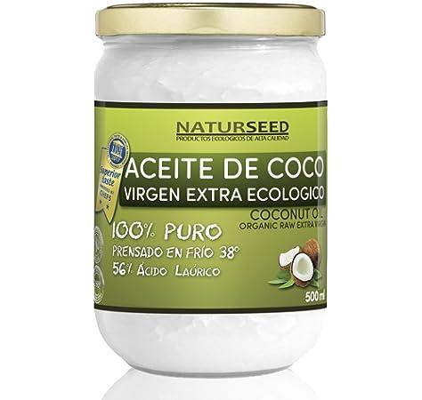 Aceite de Coco Ecológico Extra Virgen 500 ml. Crudo y prensado en ...