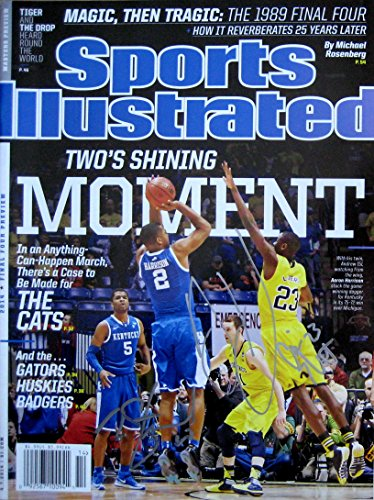 Aaron Harrison, Caris LeVert & Nick Stauskus KENTUCKY NCAA CHAMPS autographed Sports Illustrated magazine 4/7/14 (Kentucky Sports Illustrated)