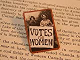Feminist brooch Suffragette protestors Votes for Women Feminist lapel pin