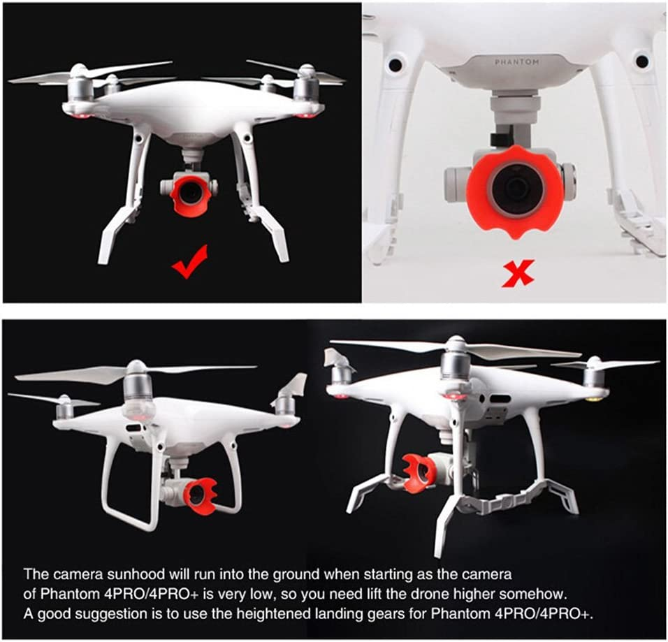 Gimbal Camera Guard Protection Board for DJI Phantom 4PRO// 4PRO+ Drone Fans Heightened Landing Gear Stabilizers Landing Skid