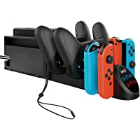 Charger Dock for Nintendo Switch Joy-con and Pro Controller, Charging Station Replacement Accessories for Nintendo Switch Controller