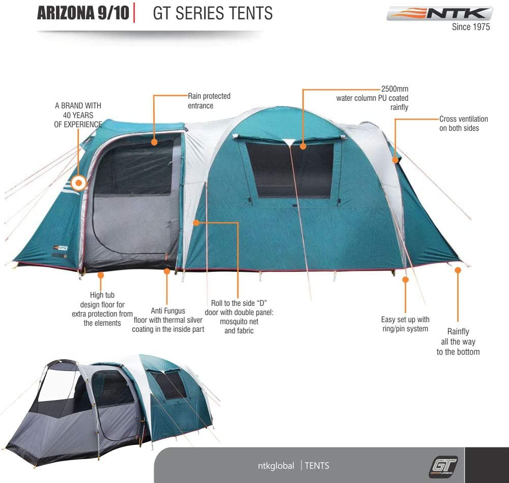 Amazon.com: Arizona GT carpa deportiva para campamento de 17 ...