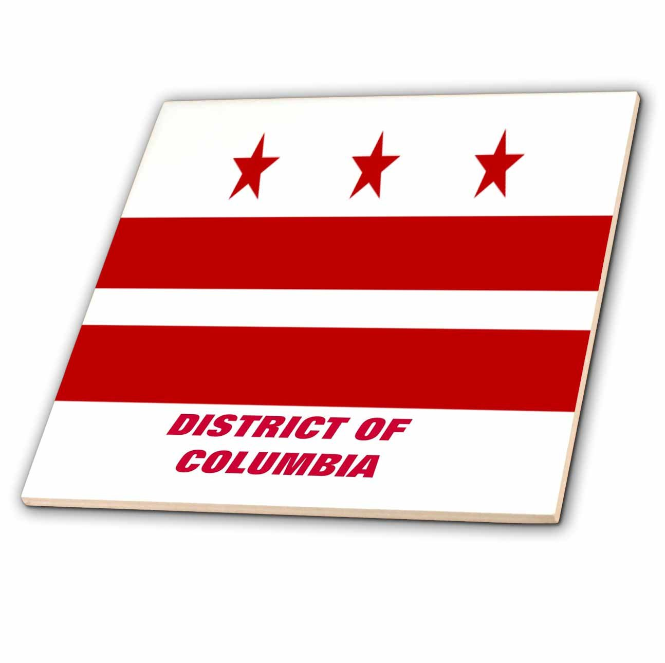 3dRose ct/_45061/_2 State Flag of District of Columbia-Ceramic Tile 6-Inch