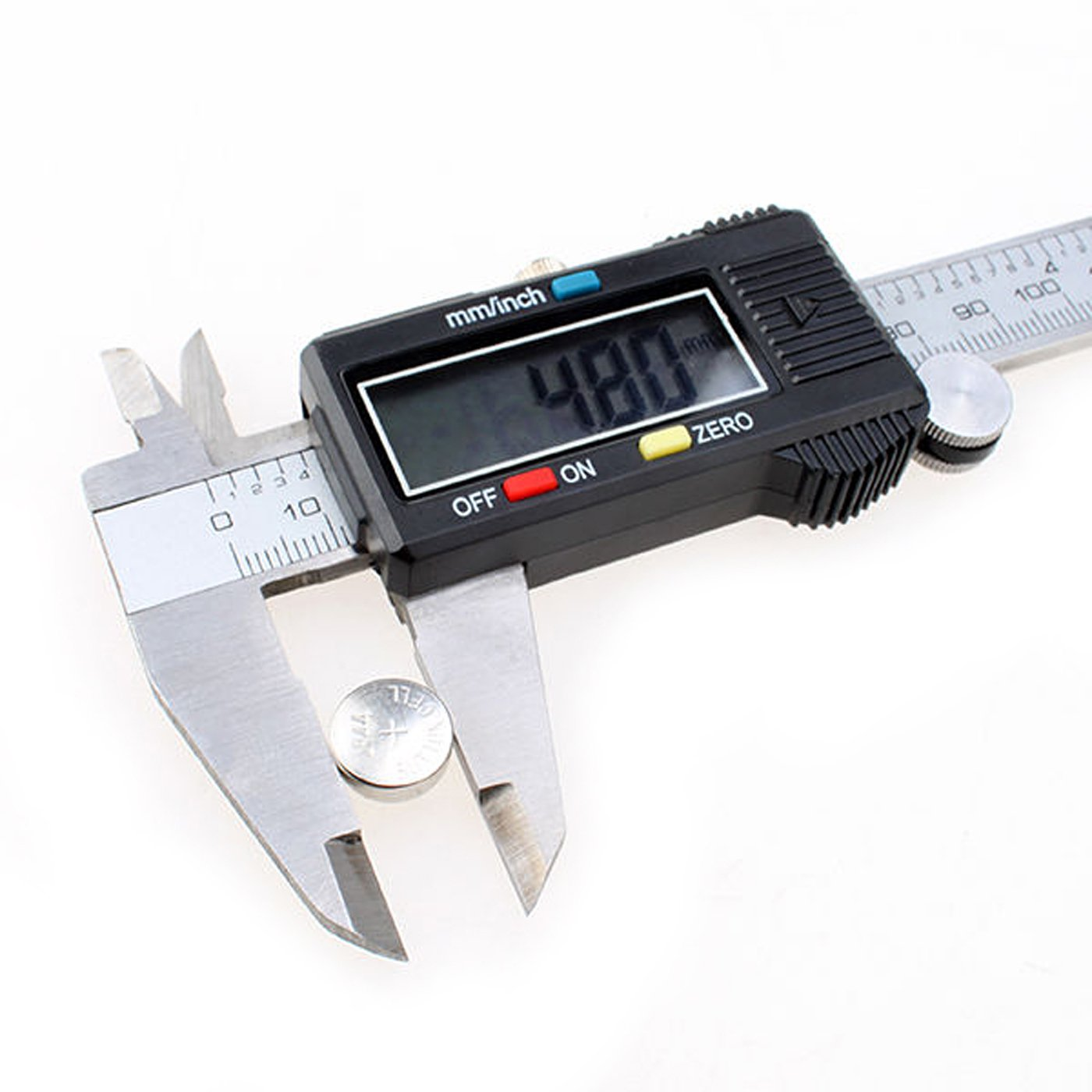 Electronic Digital Caliper Vernier Measuring Tool SAE to Metric Conversion Stainless Steel Measuring Tool with LCD Display (6 in / 150 mm)