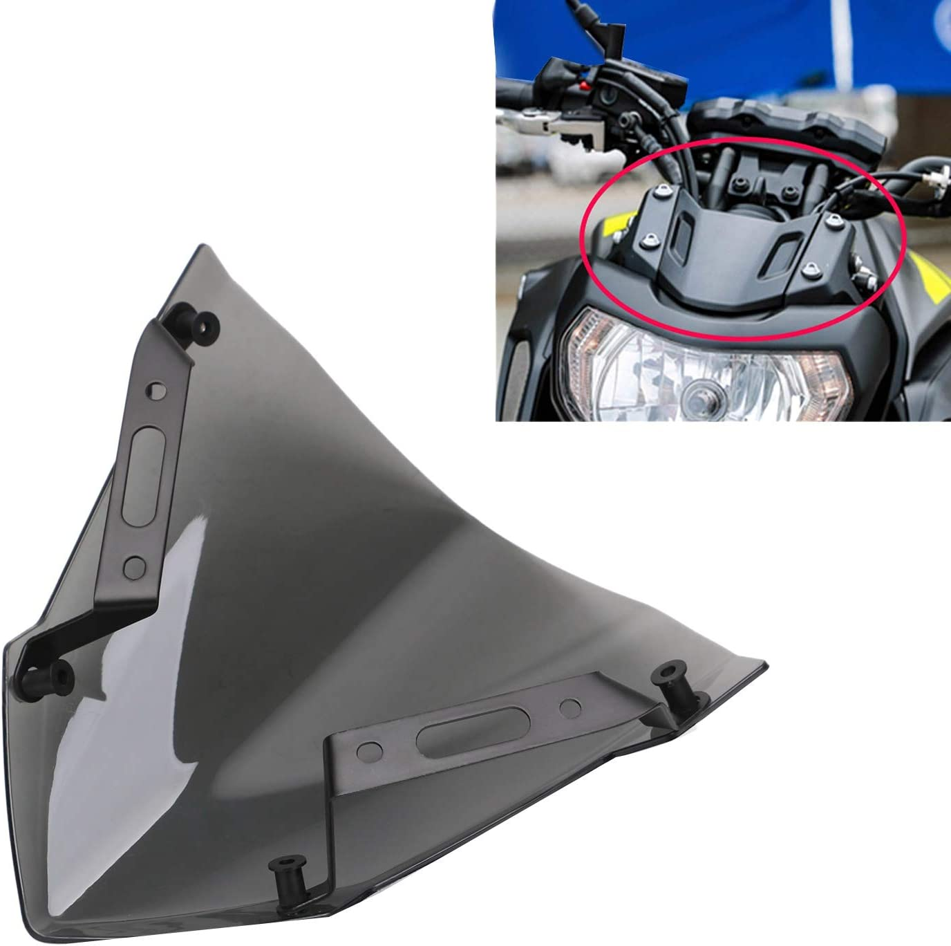 Moligh doll Windshield Windscreen for MT-07 FZ-07 2018 2019 2020 Motorcycle Accessories Pare-Brise Wind Deflectors MT07 FZ07 MT FZ 07
