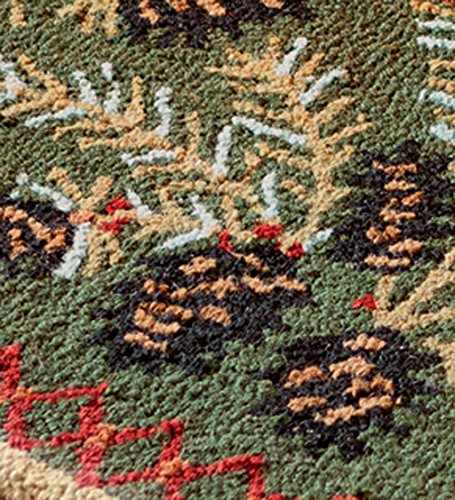 Fireplace Rug Fire Resistant: Fire Resistant Pine Cone Fireplace Hearth Rug, 100% Hooked