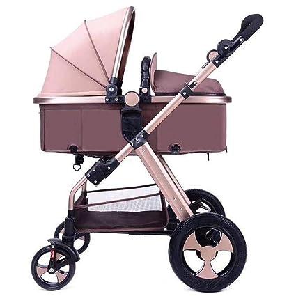 Olydmsky Carro Bebe,Peso Ligero y Alta Vista Cochecito Pueden reclinable Plegable Carrito Infantil suspensión