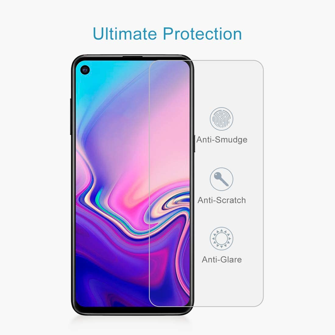 GzPuluz Glass Protector Film 100 PCS 0.26mm 9H 2.5D Explosion-Proof Tempered Glass Film for Galaxy A8s